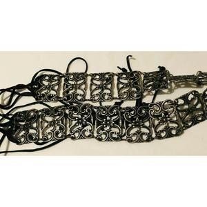 Womens Fashion Belt Hip Metal Ornate Floral Chain